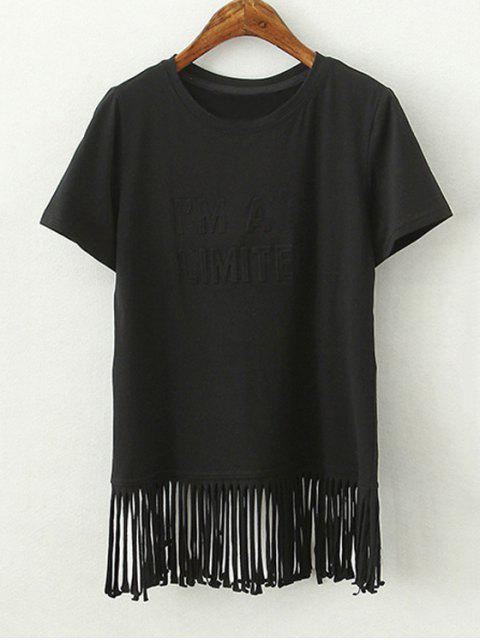 Glands épissage col rond T-shirt à manches courtes - Noir S Mobile