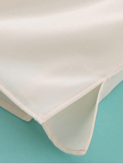 lady Printed Slash Neck T-Shirt - WHITE L Mobile