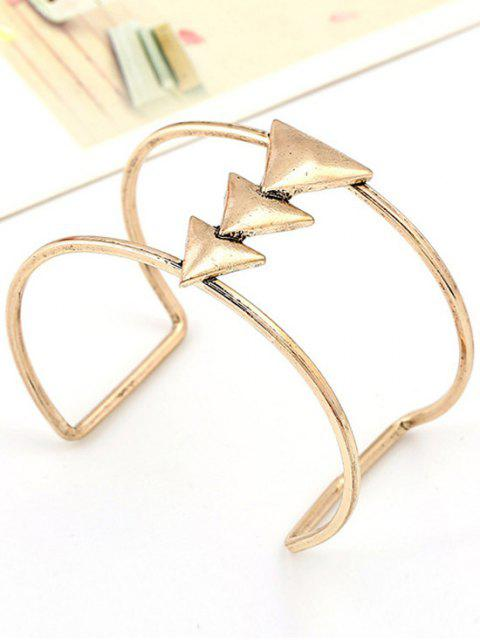 buy Triangle Two Layered Cuff Bracelet -   Mobile