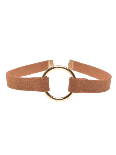 Velour Strip Copper Coil Choker Necklace