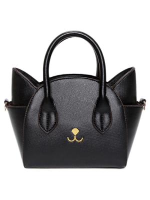 Cat Shape Solid Color Tote Bag