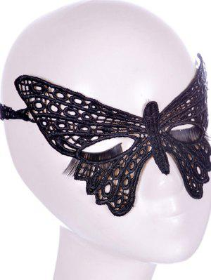 Faux Lace Butterfly Headband Party Mask