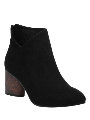 Bottes embellies zip forme V à orteil pointu