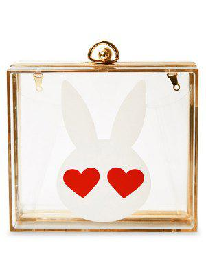 Transparent Metal Rabbit Print Evening Bag