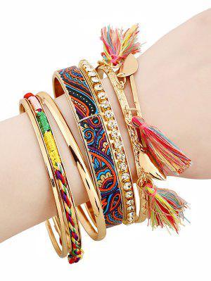 bracelets éthniques en strasse à glands