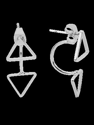 Triangle Ear Jackets - Silver