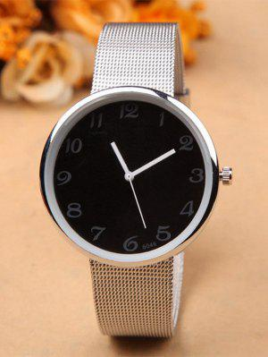Alloy Circle Dial Plate Quartz Watch