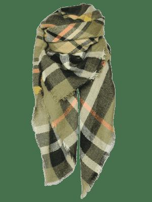 écharpe de châle à motif écossais