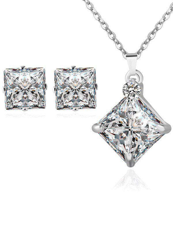 Strass carré bijoux de mariage