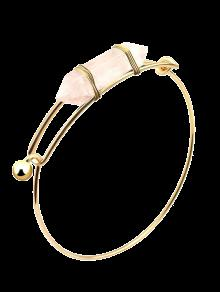 Vintage Natural Stone Bullet Shape Bracelet - White