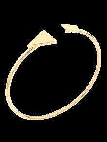 Brazalete De La Aleación Del Triángulo De La Vendimia - Dorado