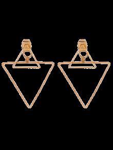 أقراط تجويف المثلث بأسلوب الفاسق - ذهبي