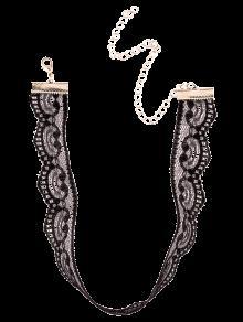 Collar Gargantilla De Encaje Negro - Negro