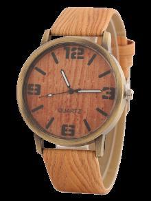 Patrón De Madera, Reloj - Naranja