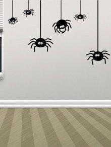 غير النظامية العنكبوت تصميم هالوين الفينيل ملصقات الحائط مخصص - أسود