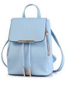 الغطاء المعدني الصلبة اللون حقيبة - أزرق