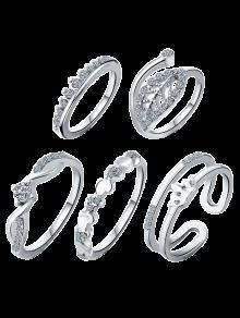 ولي العهد ورقة مجوهرات خواتم الزفاف - مقاس واحد