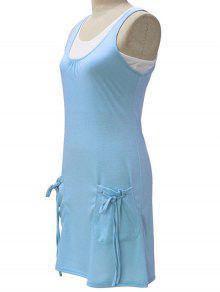 Y Vestido De 243;lido Twinset Azul Tapa Tanque De Claro El Cultivos Color Blanca M S De gqvxqYwX