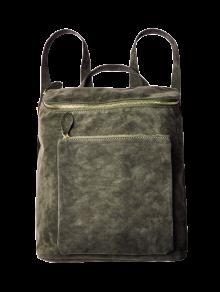 عارضة البرق الجلد المدبوغ حقيبة الظهر - الجيش الأخضر