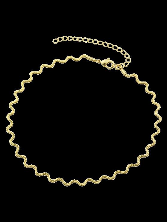 Collar Gargantilla Ondulada - Dorado