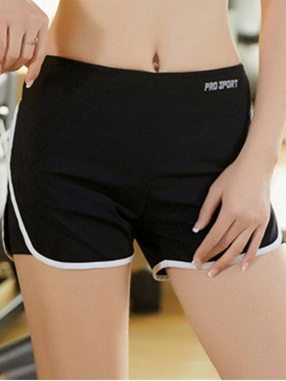 Skinny Multicolor Super-Elástico deportivo Shorts - Blanco S