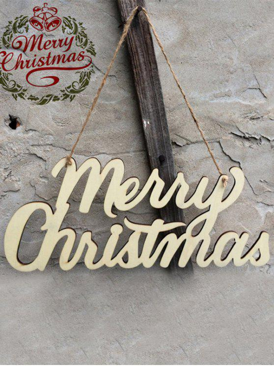outfit Christmas Letter Hanging Pendants Party Decoration - WOOD