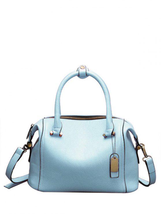 Cuoio di colore della caramella Tote Bag - Blu