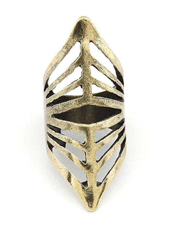 Ahueca hacia fuera el anillo de oro - Dorado Uno de tamaño