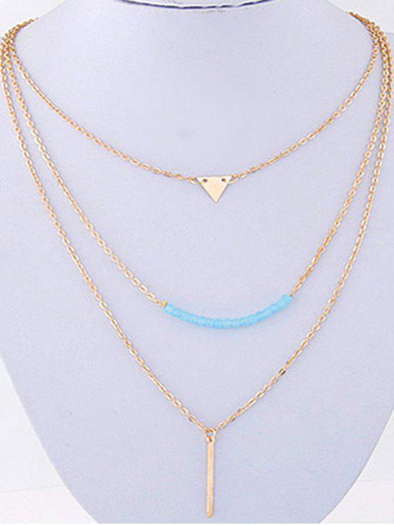 sale Three Layered Pendant Necklace - GOLDEN