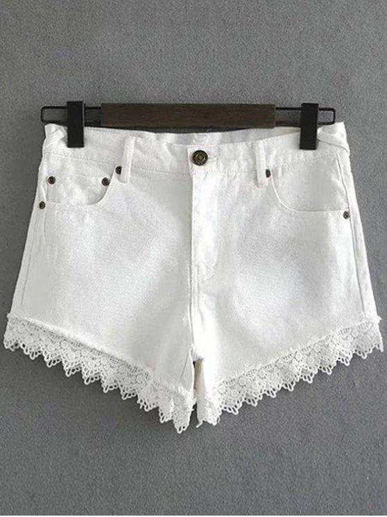 Guarnição Denim Shorts - Branco XL