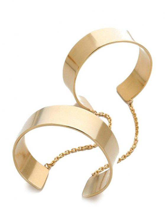 shop Mirror Side Cuff Bracelet - GOLDEN