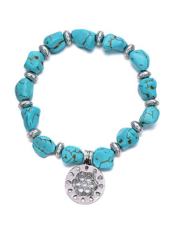 online Stylish Turquoise Elastic Bracelet - TURQUOISE