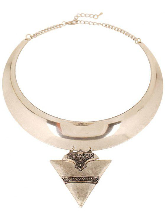 women Chunky Triangle Torque Necklace - GOLDEN