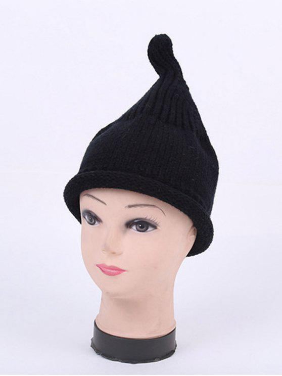 outfits Winter Teat Shape Knit Hat - BLACK