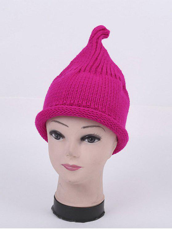trendy Winter Teat Shape Knit Hat - BRIGHT PINK