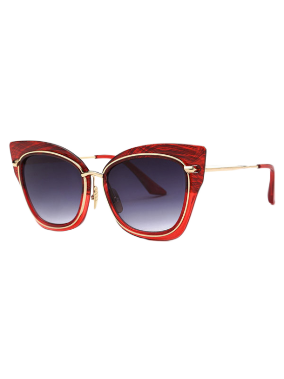 affordable Vintage Cat Eye Sunglasses - RED
