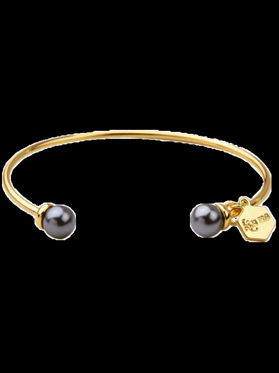 Joyería de imitación de la perla Pulsera del puño - Gris