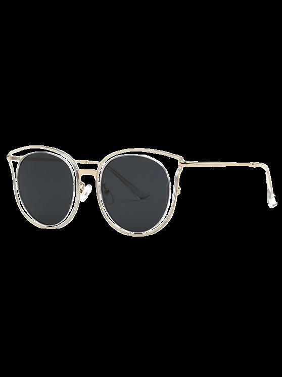 affordable Black Lens Cat Eye Sunglasses - TRANSPARENT