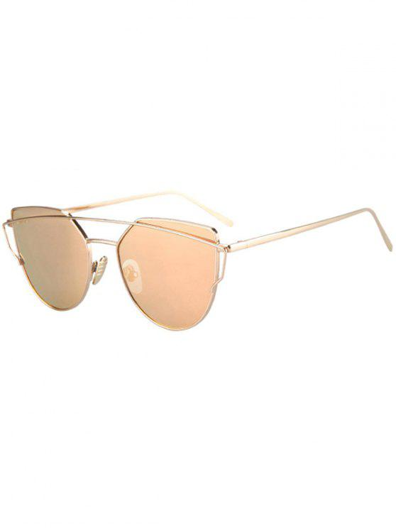 shop Metal Bar Golden Frame Pilot Sunglasses - GOLDEN
