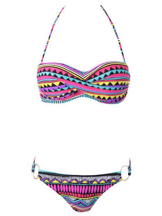 Impresión geométrica del bloque del color Bikini Set - Colormix S