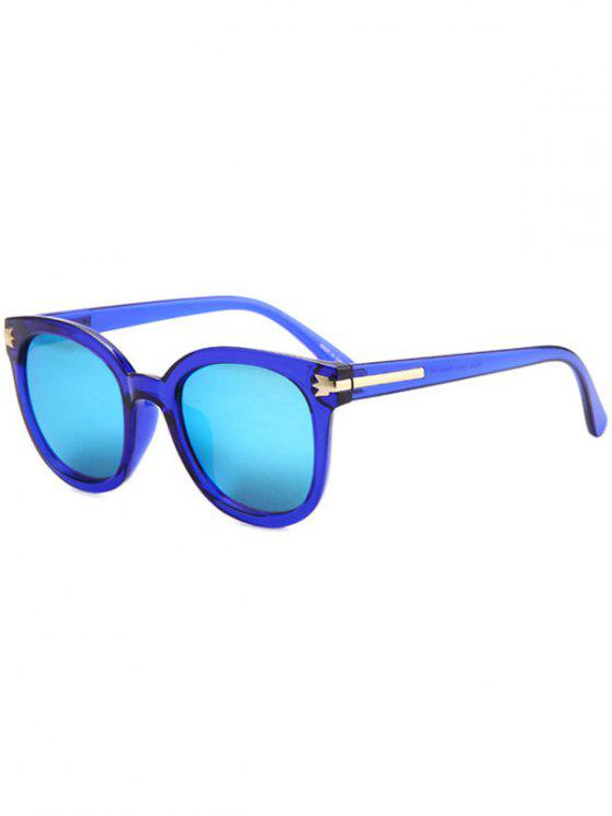 womens Metal Inlay Transparent Sunglasses - BLUE