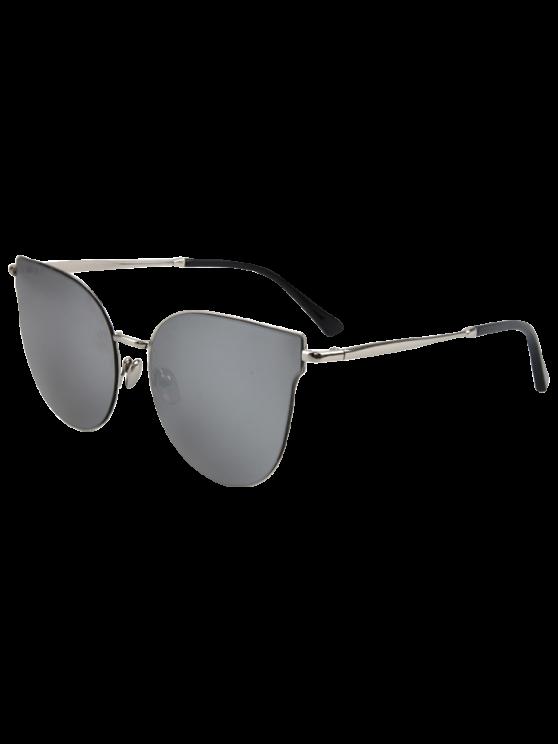 Calle de la manera de plata-Rim gafas de sol del ojo de gato - Gris de Plata