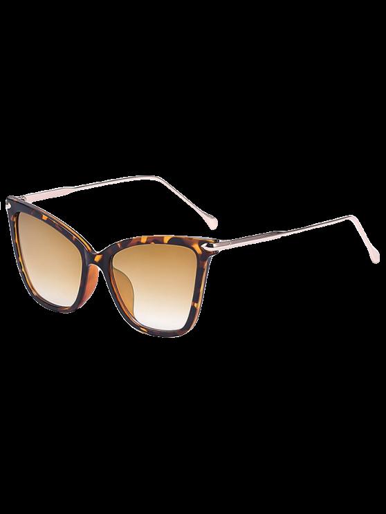 fancy Leopard Butterfly Sunglasses - BROWN