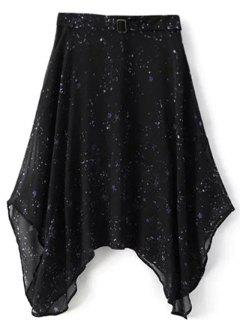 Galaxy Spaghetti Strap Chiffon Dress - Black L