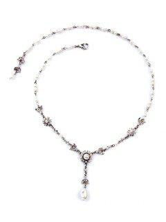Collar De La Aleación Elegante Decorado Perlas De Imitación -