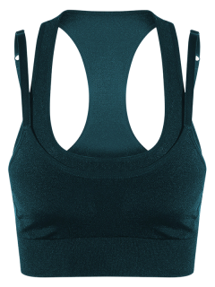 Double Layer Sport Bra - Blackish Green S