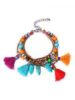 Ethnic Vintage Bead Tassel Bracelet