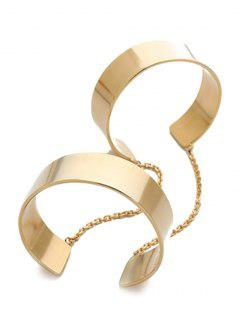 Mirror Side Cuff Bracelet - Golden