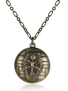 Vintage Christmas Jack Figure Necklace - Bronze-colored