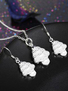 Polished Christmas Tree Jewelry Set - White